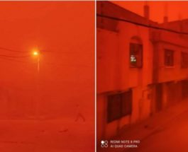 пыльная буря, песчаная буря, Алжир,