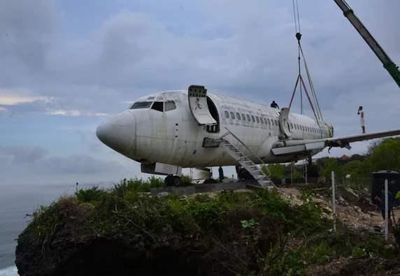 самолет, Бали, скала,