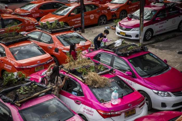 такси, Таиланд, Бангкок,