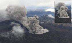 Вулкан Асо в Японии проснулся и начал извергаться