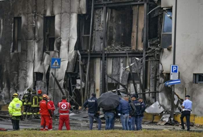 Милан, самолет, катастрофа,