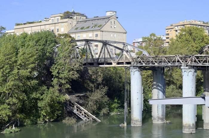 Рим, Италия, мост, пожар,