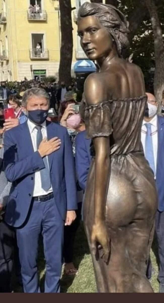 Салерно, Италия, статуя,