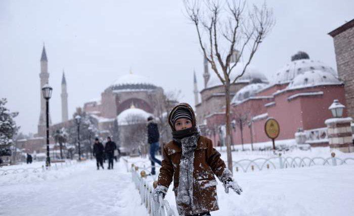 Турция, снег,