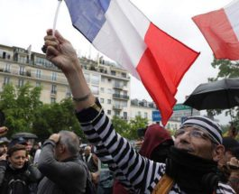 Франция, протесты, сертификаты, covid,