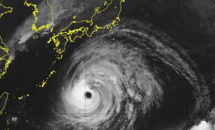 Япония, тайфун, Миндул,