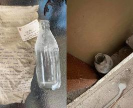 бутылка, дом, капсула времени, послание из прошлого,