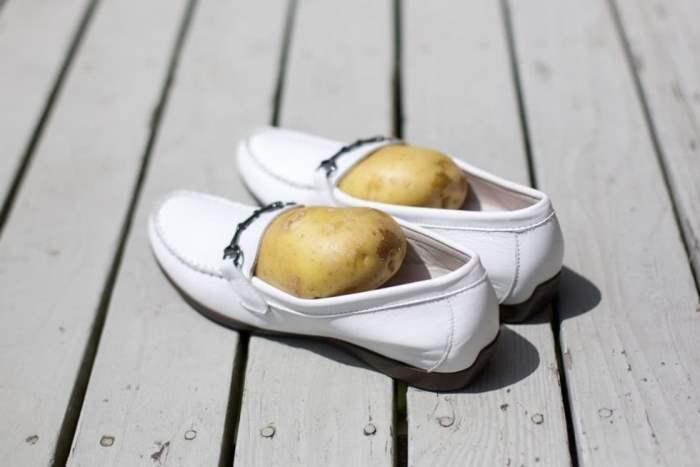 обувь, картошка, разносить обувь, расширить обувь,