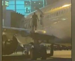 пассажир, самолет, крыло, США,