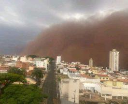 песчаная буря, Бразилия,